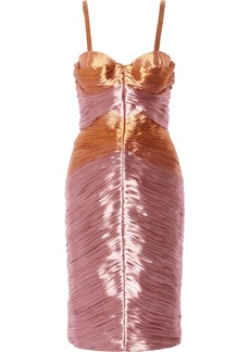 Burberry Prorsum Pleated taffeta dress