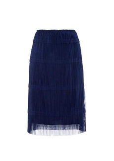 Burberry Prorsum Pleated tulle A-line skirt