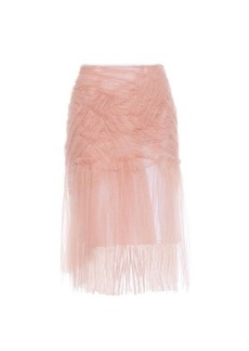 Burberry Prorsum Ruched tulle midi skirt