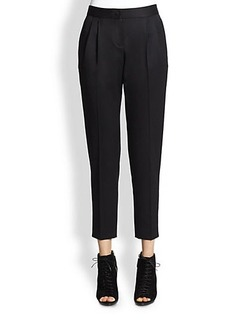 Burberry Prorsum Stretch Wool Pleat-Front Trousers