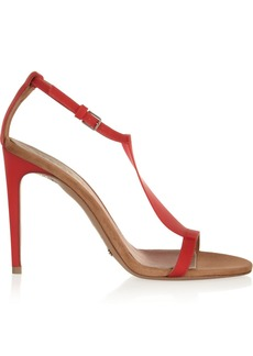 Burberry Prorsum Vinyl and suede sandals