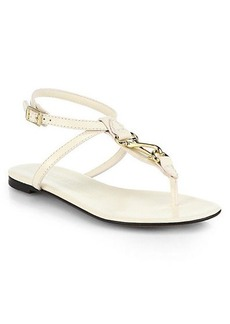 Burberry Reason Leather Thong Sandals