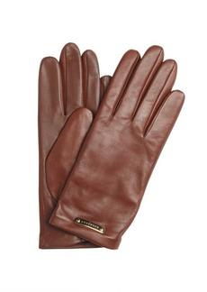 Burberry saddle brown sheepskin leather gloves