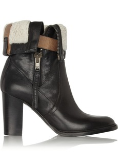 Burberry Shoes & Accessories Shearling-lined leather boots