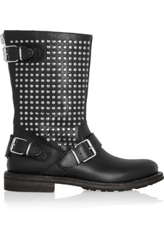 Burberry Shoes & Accessories Studded leather biker boots