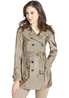 Burberry sisil khaki 'Dorsleigh' pleated waist belted trench