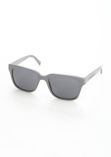 Burberry stone grey acrylic rectangle wayfarer sunglasses