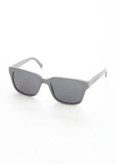 Burberry stone grey acrylic rectangle wayfarer sunglasses