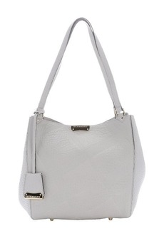 Burberry stone white check embossed calfskin small 'Canterbury' tote