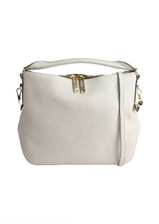 Burberry stone white leather 'Ledbury' shoulder bag