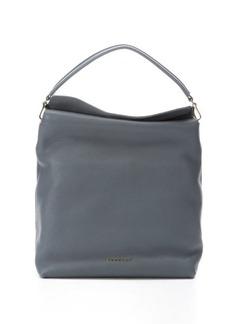 Burberry storm grey leather 'Cale' medium hobo bag