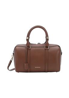 Burberry tan leather 'Alchester Armour' medium bowling bag