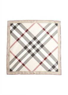 Burberry trench check silk scarf