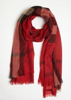Burberry vermilion nova check cashmere scarf