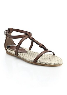 Burberry Westerdale Flat Leather Sandals