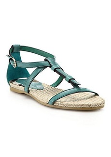 Burberry Westerdale Leather Sandals