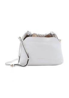 Burberry white calfskin and house check canvas 'Little Crush' shoulder bag