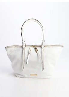 Burberry white leather 'Salisbury' small tote