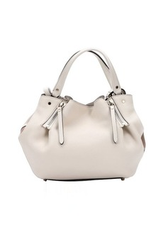 Burberry white leather small 'Maidstone' convertible tote