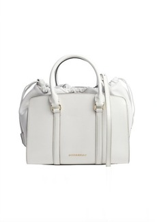 Burberry white patent leather 'Dinton' convertible top handle bag