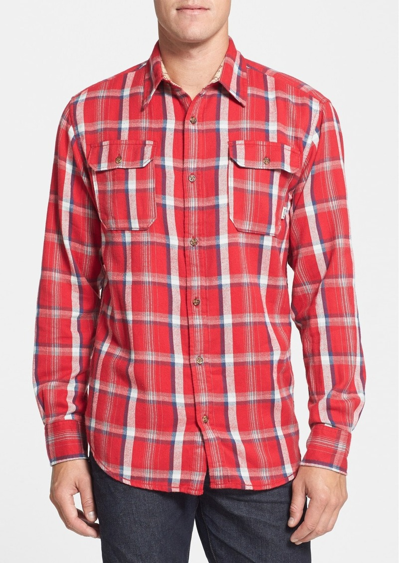 Burton burton 39 brighton 39 buffalo check flannel shirt for Buffalo check flannel shirt