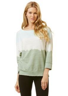 baby french terry ¾ sleeve dip dye sweatshirt