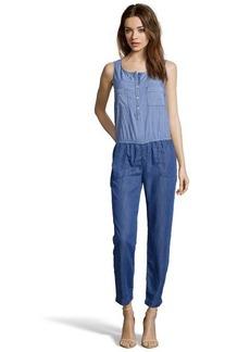C & C California blue chambray stripe mixed jumper