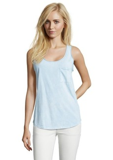 C & C California clearwater blue cotton patch pocket tank