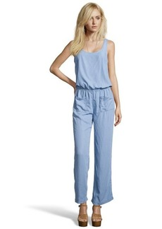 C & C California light blue chambray sleeveless jumpsuit