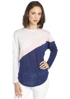 C & C California lilac and snow linen jersey colorblock dolman t-shirt