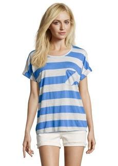 C & C California marine and grey striped cotton blend jersey boxy t-shirt