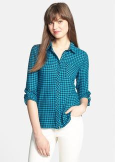 C & C California Mini Check Plaid Flannel Shirt