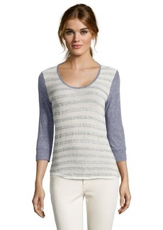 C & C California oatmeal and grey knit raglan sleeve sweater