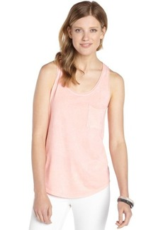C & C California tropical peach cotton sleeveless pocket tank
