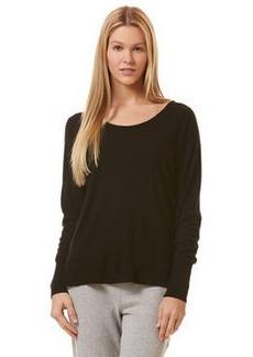 cashmere long sleeve dolman hoodie