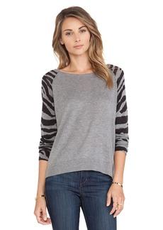 C&C California Animal Sleeve Sweater