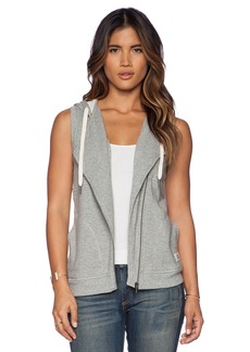 C&C California Asymmetric Zip Hoodie Vest