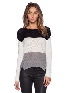 C&C California Colorblocked Stripe Sweater