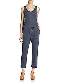 C&C California Cropped Jersey Knit Jumpsuit