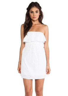 C&C California Diamond Eyelet Strapless Dress