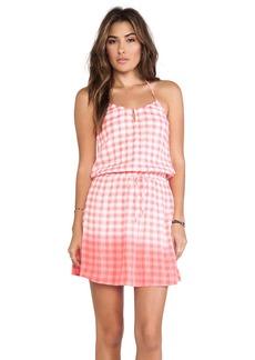 C&C California Dip Dye Gingham Dress