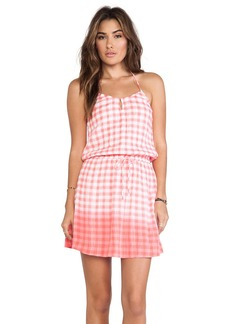 C&C California Dip Dye Gingham Dress
