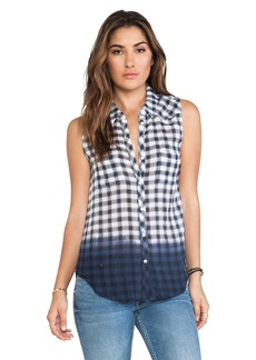 C&C California Dip Dye Gingham Shirt