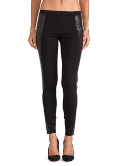 C&C California Faux Leather Detail Leggings