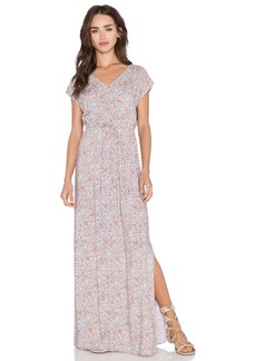 C&C California Printed Kimono Maxi Dress