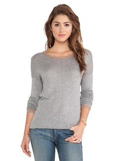 C&C California Side Slit Sweater in Gray
