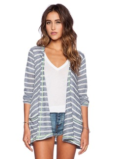 C&C California Stripe Drape Cardigan