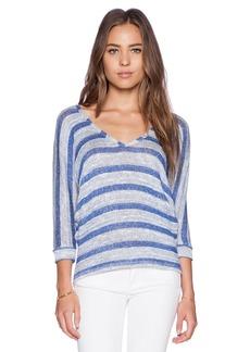 C&C California Stripe V Neck Dolman Sweater