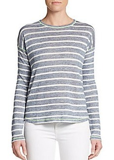 C&C California Striped Back Overlay Knit Top