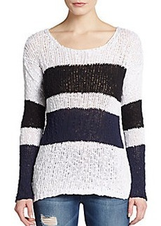 C&C California Striped Cotton Knit Pullover